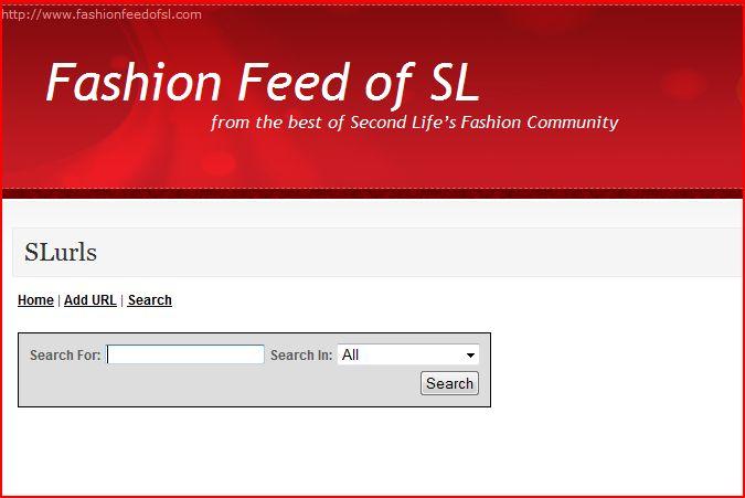 FashionFeedofSL SLurl Directory Search