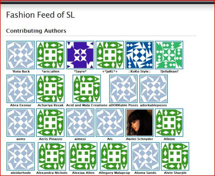 Contributing Authors screenshot